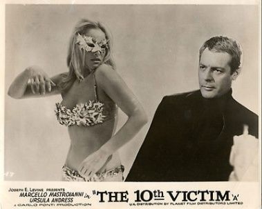 The-10Th-Victim-Lobby-Card-Urusla-Andress-Bikini